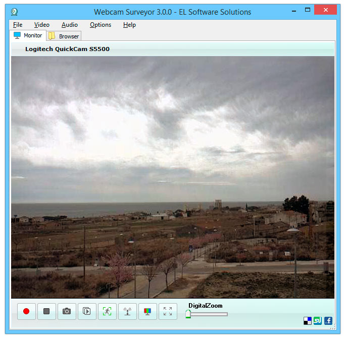 Webcam software for 24/7 video surveillance and video recording.