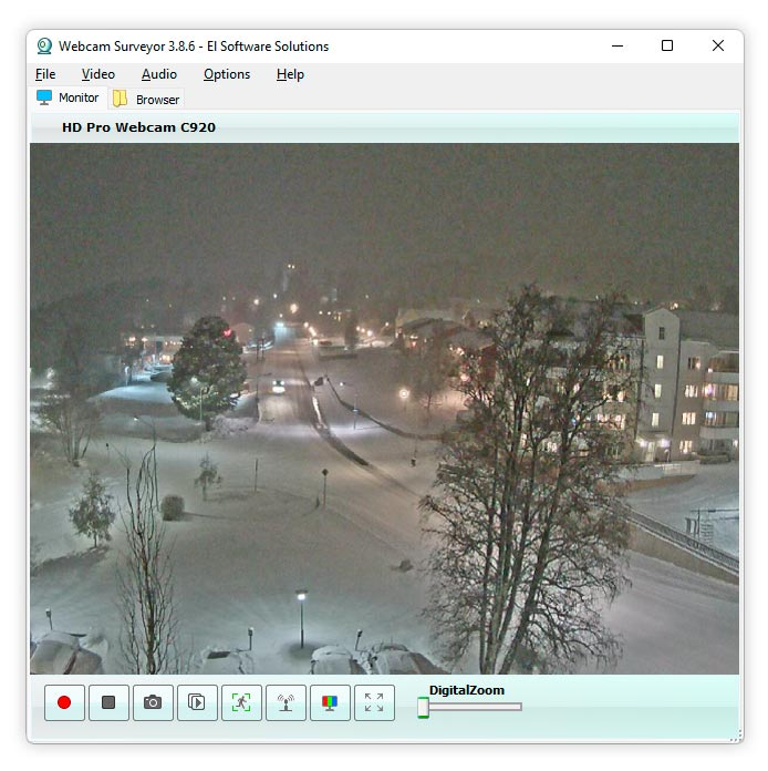webcam surveyor screenshot of main window Webcam Surveyor is webcam software ...