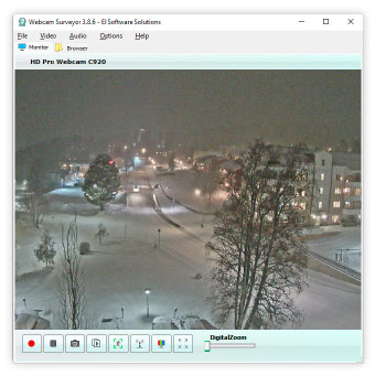 Webcam Surveyor screenshot of main window